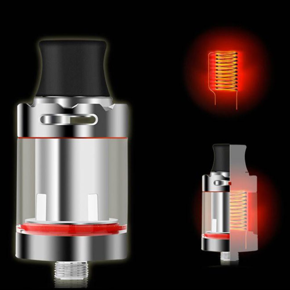 Atomizer 510 Mod Coil Rda Rta Oil   Heat-Wire Airflow 22mm Vape Tank Adjustable Electronic Two Air Inlets Vape Cartridge