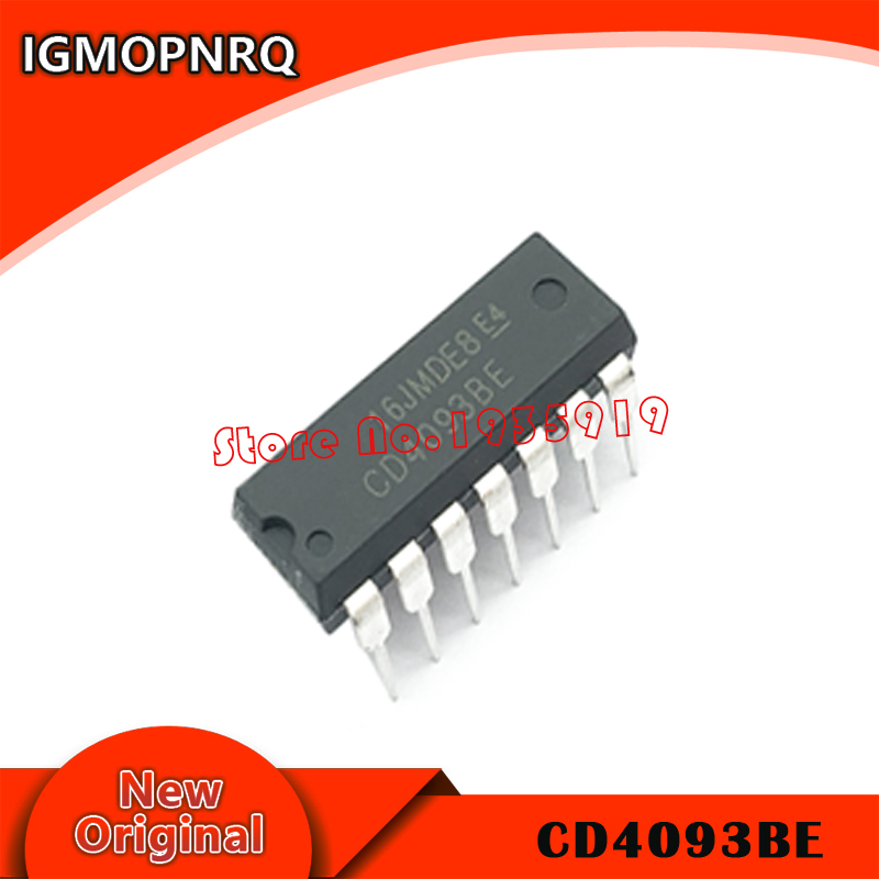 100PCS CD4093 4093 CD4093BE DIP 14 TI CHIP IC NEW