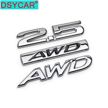 DSYCAR 1 sztuk 3D Metal 2.0 2.5 AWD samochód boczny błotnik naklejka z logo na bagażnik odznaka dekoracja naklejki garnitur dla Universal Car nowy