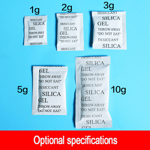 50PCS Dehumidifier Bags Silica Gel Sachets Desiccant Packets Safe Moisture Absorbing Drying Bulk Bags Household Cleaning Tools