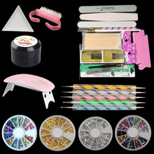 23pcs Manicure Tools Set Nail Set UV LED Lamp Dryer Nail Gel Polish Kit Soak Off  Electric Nail Drill  For Nail Art Tool