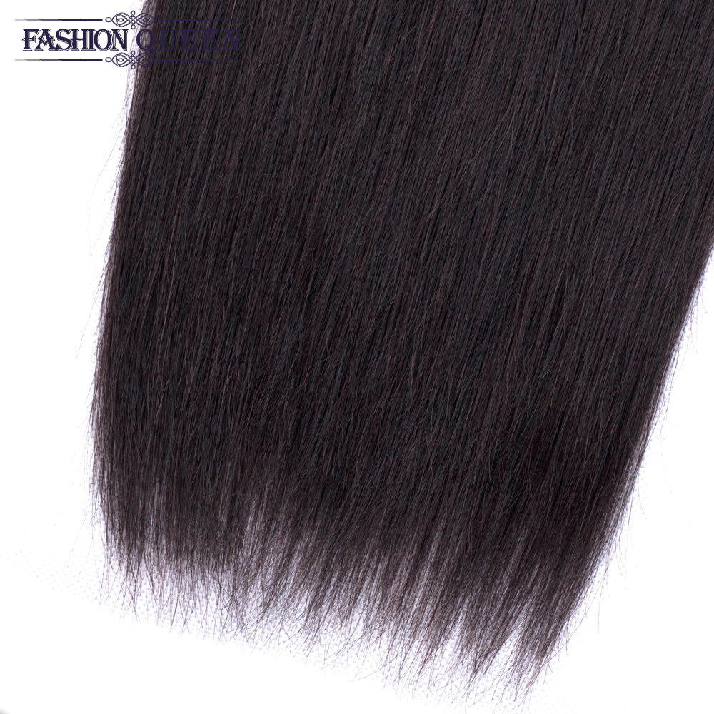 H34a3af4890e44bd8b649623f3a254c52r Brazilian Straight Hair Bundles With Closure 3 Bundles Human Hair Weave Bundles With Closure Hair Extensions Fashion Queen