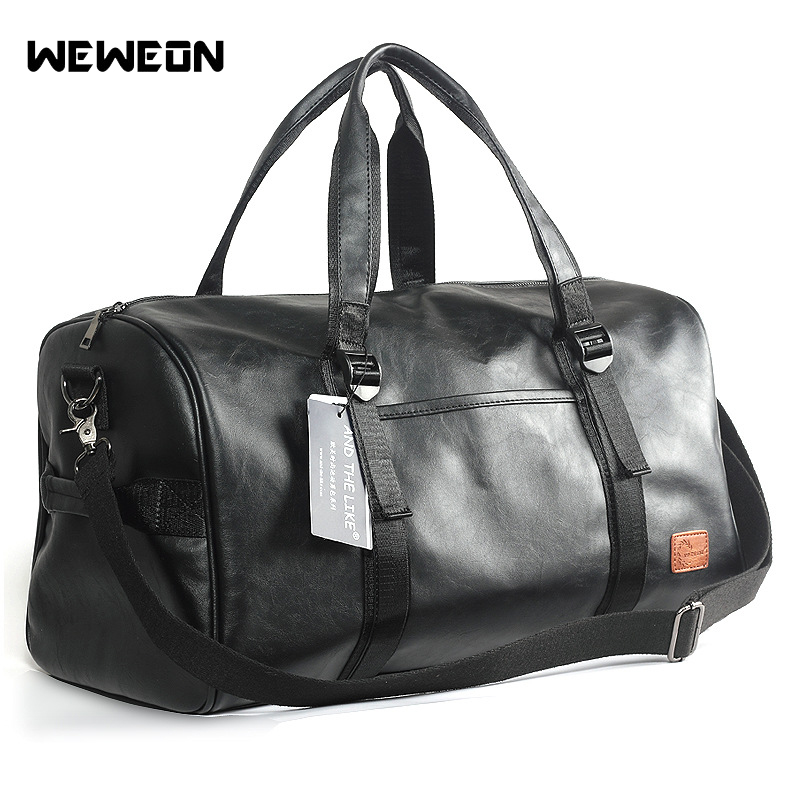 Quality Leather Sports Bag Training Gym Bag Shoes Storage Men Women Fitness Bags Durable Multifunction Handbag Outdoor Sporting