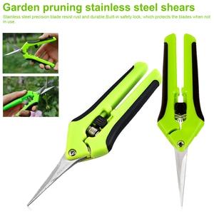 Image 1 - Садовые инструменты, садовые ножницы для обрезки, ножницы из нержавеющей стали для сбора фруктов, домашние маленькие ножницы для обрезки растений в горшке