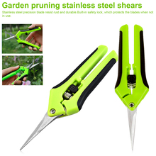 Gardening Tools Garden Pruning Shears Stainless Steel Fruit Picking Scissors Household Potted Trim Weed Branches Small Scissors