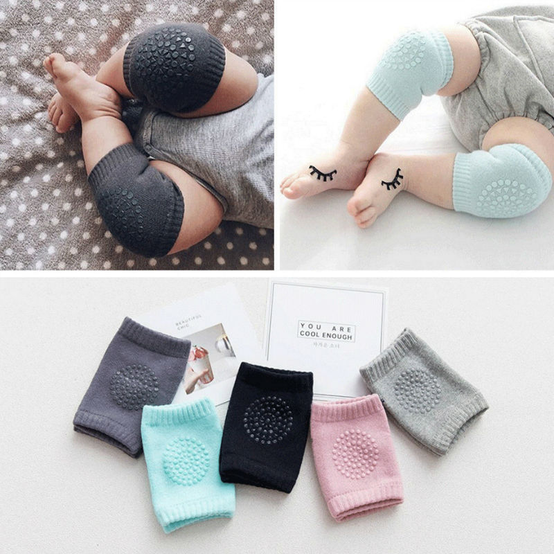 Terry Protector Knees For Babies Baby Leg Warmers Anti Non-slip Baby Knee Pads Socks Cotton Children's Knee Pads For Crawling