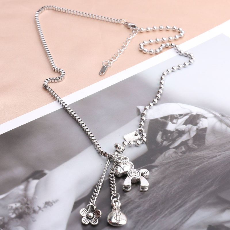 H34a40435b5dd4af0af8ed815d23c1976D - AOMU New Pony Pendant Money Bag Flowers Tassel Retro Make Old Hip Hop Sweater Chain Long Necklace for Women Men Jewelry