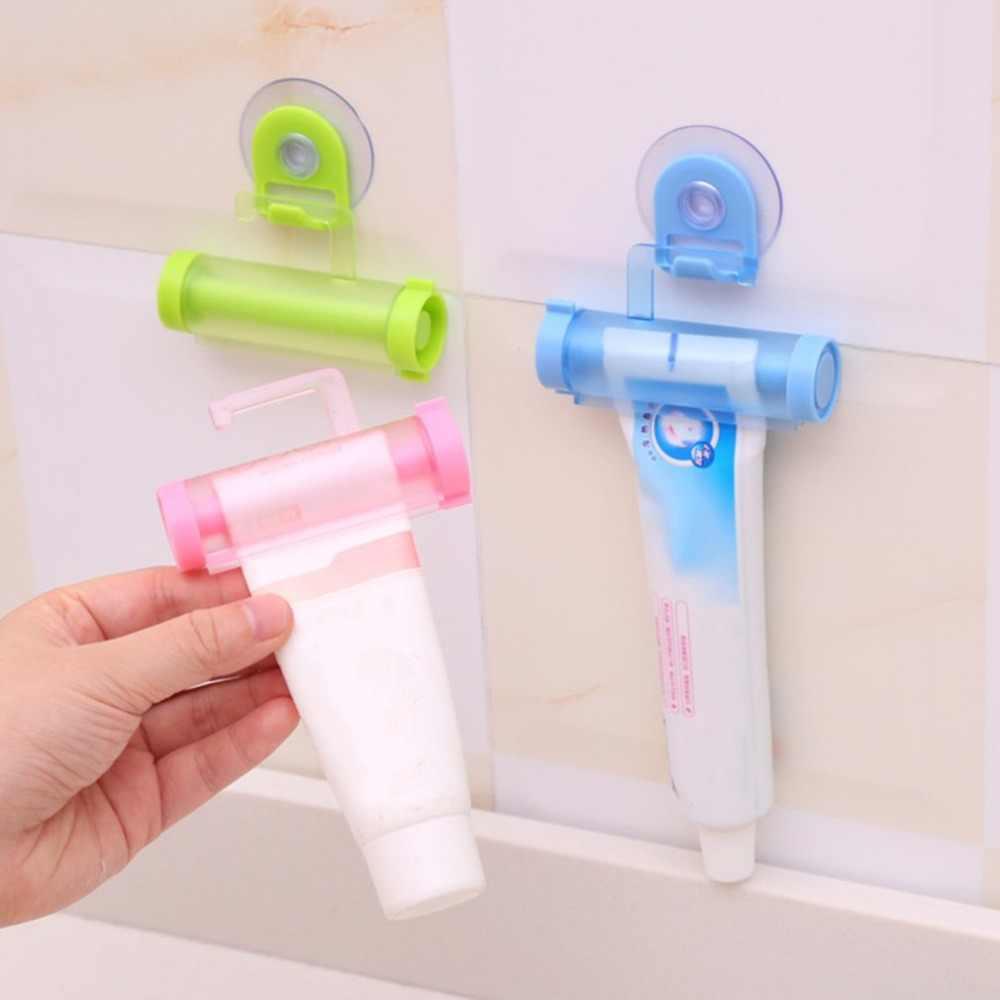 1 قطعة المتداول عصارة معجون الأسنان موزع أنبوب شريك مصاصة حامل معلق حامل الحمام قطرة الشحن