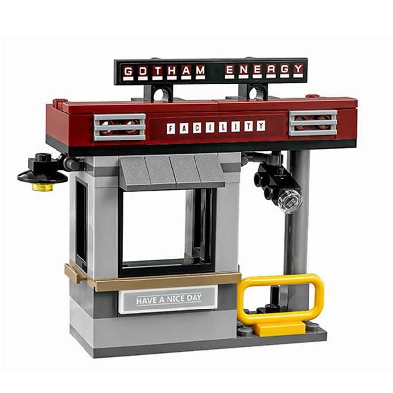 07057 204 stücke Batman Film Serie Scarecrow Pizza Lieferung Bausteine Bricks Kompatibel Legoinglys 70910 Spielzeug für Kinder Geschenke