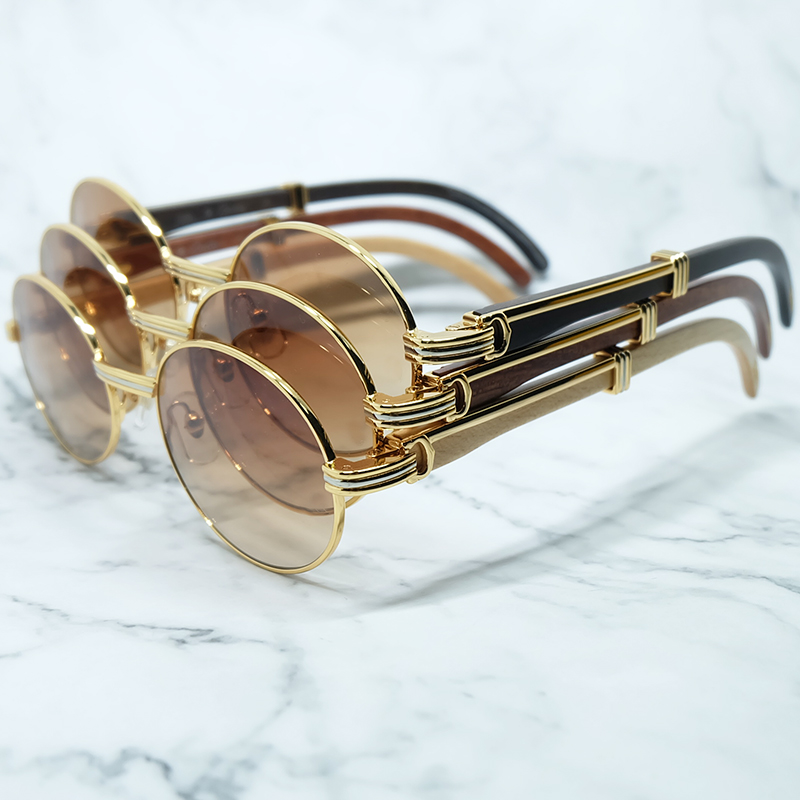 Retro Sunglass Luxury Brand Name Designer Carter Wooden Men Sunglasses Driving Shades Mens Wood Vintage Sunglass Unisex Glasses