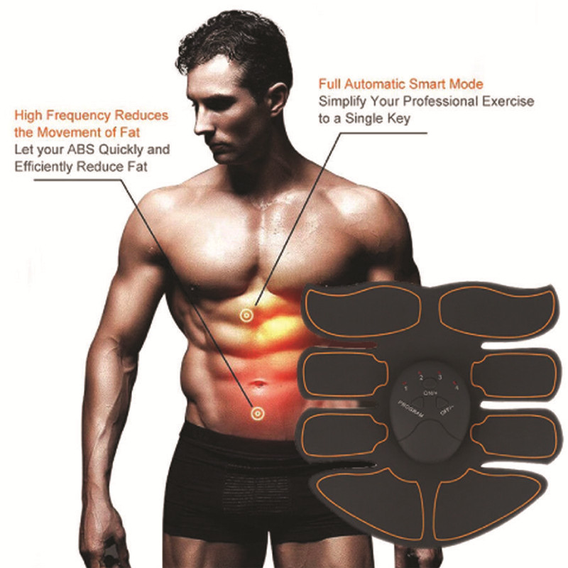 Ultimate Abs Belt Slim Stimulator Abdominal Muscle Train Toning Waist Trimmer Stimulator Training Smart Abs Fitness Gear Muscle