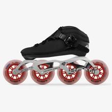 2019 Original Bont Luna Geschwindigkeit Inline Skates Heatmoldable Karbon Boot 4*90/100/110mm 6061 Elementarem rad Skating Patines