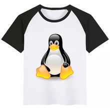 The LINUX Penguin In A Computer Summer Style Funny Cute Girl Tops Fashion Streetwear Harajuku Boy Tshirt Street Kid T Shirt linux® administrator street smarts