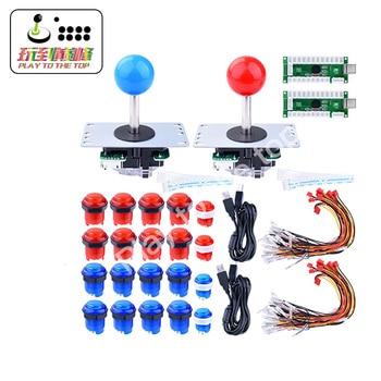 For Raspberry Pi 3 2 model B Retropie LED Arcade DIY Parts 2x Zero Delay USB Encoder + 2x 8 Way Joystick + 20x LED Push Buttons