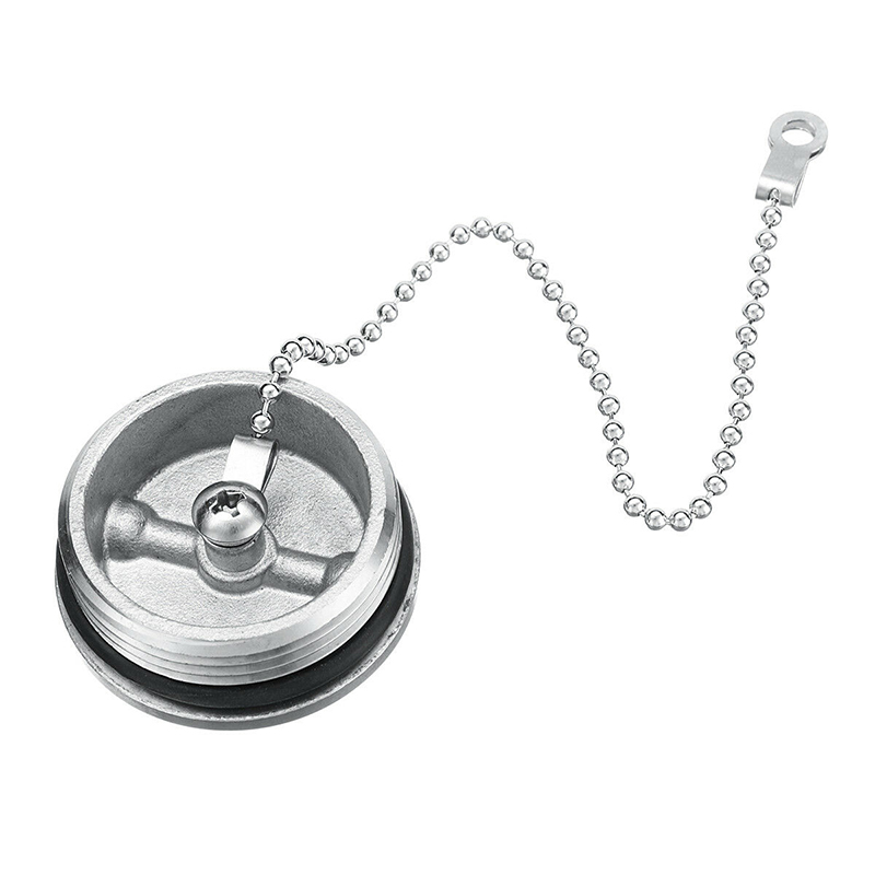 316 Stainless Steel Deck Fill Replacement Cap /& Chain Boat Parts Accessories