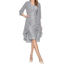 Vestido feminino plus size duas peças encantador cor sólida mãe renda sexy vestido de festa vestido boêmio robe longue femme ete #38