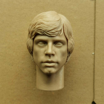 1/6 Mark Hamill Unpainted Head Sculpt Carved DIY Male Model for 12 Action Figure Body