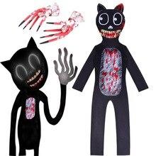 Cosplay Bodysuit Siren-Head Halloween-Costume Party-Clothes Black Cat Anime Kids Boys
