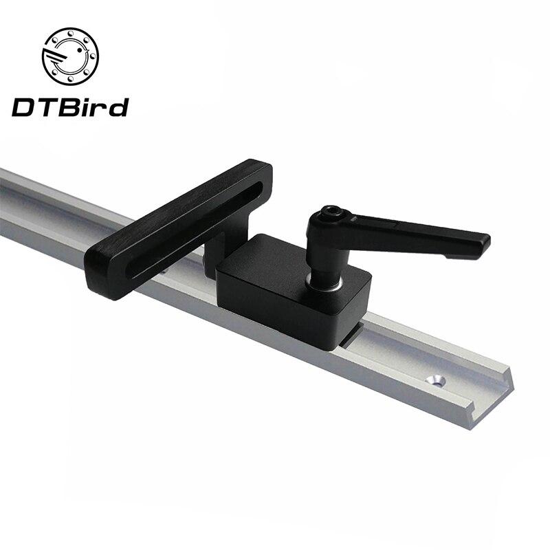 1 oblique cut stop track E 300 mm 400 mm 600 mm slot TT slot Aluminum oblique cut track woodworking tools oblique cut stop track