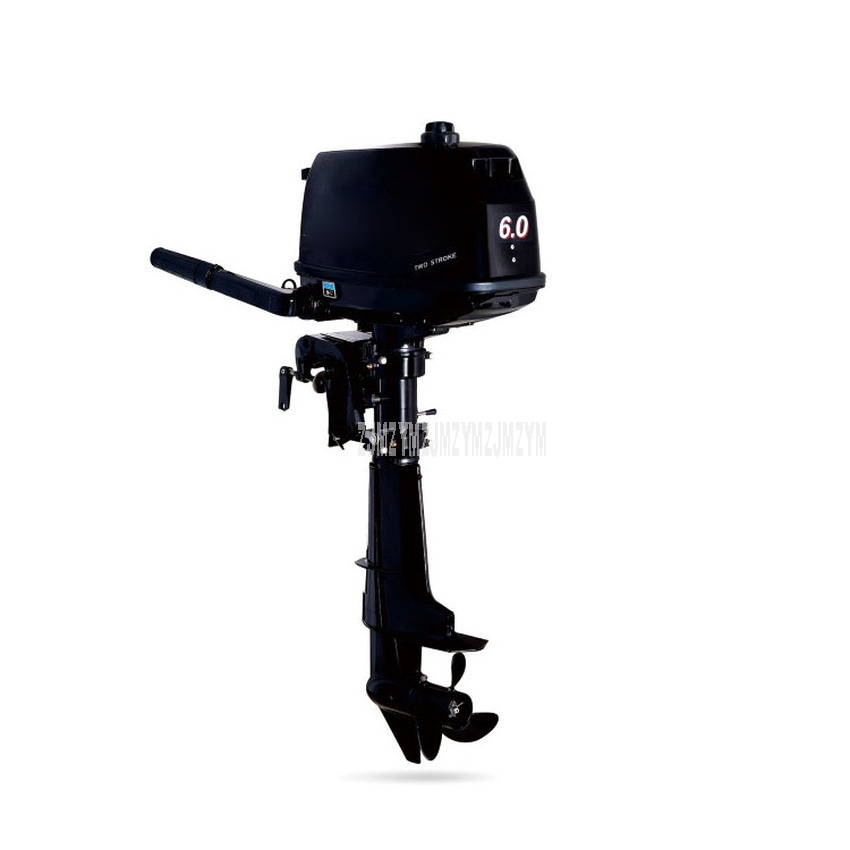 6.0 HP Boat Outboard Engine Water Cooling System Outboard Motor Two strok Gasoline Fuel Motor For Inflatable Fishing Boat 4.4KW