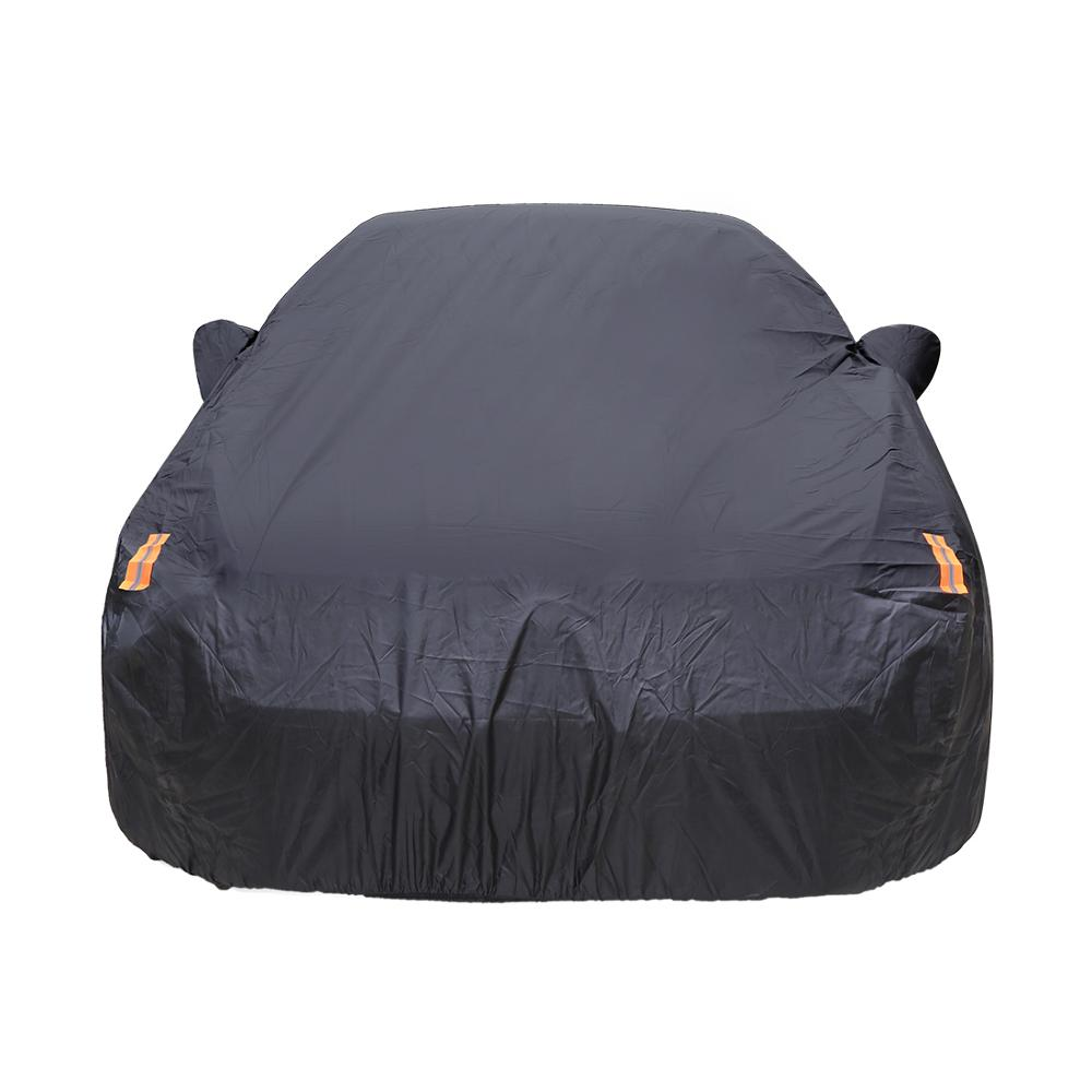 450 To 490cm Outdoor Rain Uv Sun Protection With Zipper Mirror Pocket For Automobile Fit Sedan 3XL kayme Car Cover Waterproof All Weather