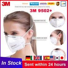 3M 9502 + FFP2 masque KN95 bandeau réutilisable bouche masques visage filtre Anti-poussière Anti-buée respirateur respirant Protection Mascarilla