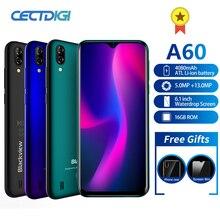 Blackview A60 스마트 폰 쿼드 코어 안드로이드 8.1 4080mAh 핸드폰 1GB + 16GB 6.1 인치 19.2:9 화면 듀얼 카메라 3G 휴대 전화