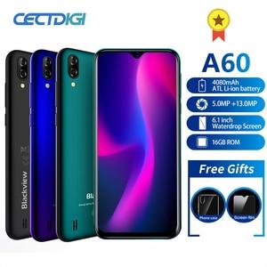 Мобильный телефон Blackview A60, четырёхъядерный, на базе Android 8.1, 4080 мАч, 1 ГБ+16 ГБ, экран 6,1 дюйма 19.2:9, двойная камера, 3G смартфон