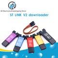ST LINK Stlink ST-Link V2 Mini STM8 STM32 симулятор загрузки Программирование с чехлом DuPont Cable