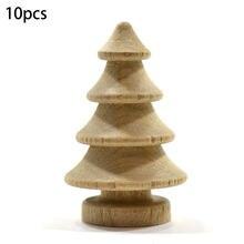 10 шт деревянный колышек куклы натуральный деревянная Рождественская