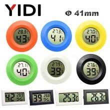 Mini digital lcd termômetro higrômetro medidor freezer testador de temperatura sensor de umidade detector monitor interior do carro do animal estimação