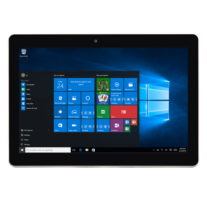 2 en 1 Tablet Windows10 Intel Atom Trail-T3 Z735 Quad Core 1280*800 2GB RAM 32GB ROM Micro USB de la tableta de 10,1 pulgadas title=