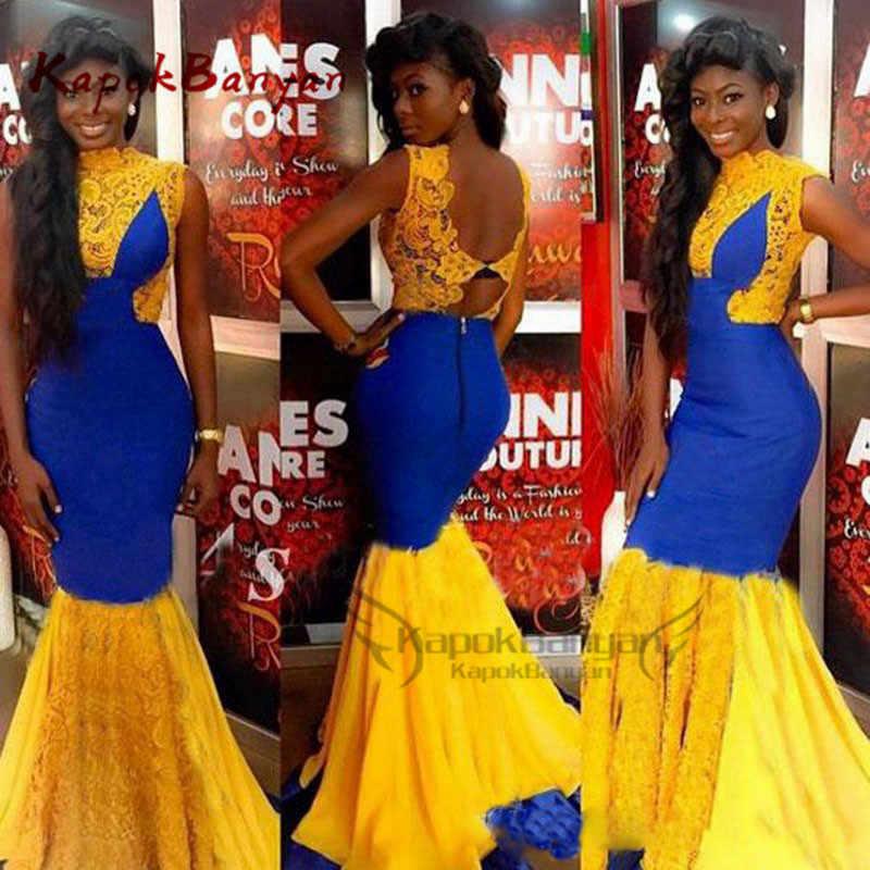 Великолепные африканские платья для выпускного вечера Длинные Русалка