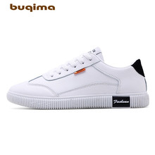 Buqima new mens casual small shoes lazy breathable comfortable fabric flat with lace
