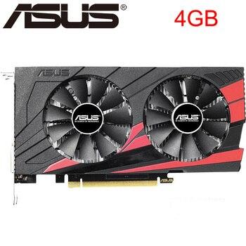 Оригинальная Видеокарта ASUS GTX 1050 Ti, 4 Гб, бит, GDDR5, графические карты для nVIDIA, карты VGA Geforce GTX 1050ti, Hdmi Dvi, игровая, б/у