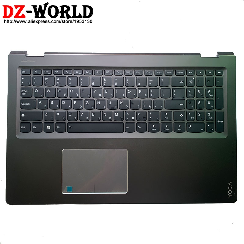 Palmrest Upper Case With Hebrew Israel Backlit Keyboard Touchpad for Lenovo Ideapad Yoga <font><b>510</b></font>-<font><b>15ISK</b></font> Yoga <font><b>510</b></font>-15IKB 5CB0L66042 image