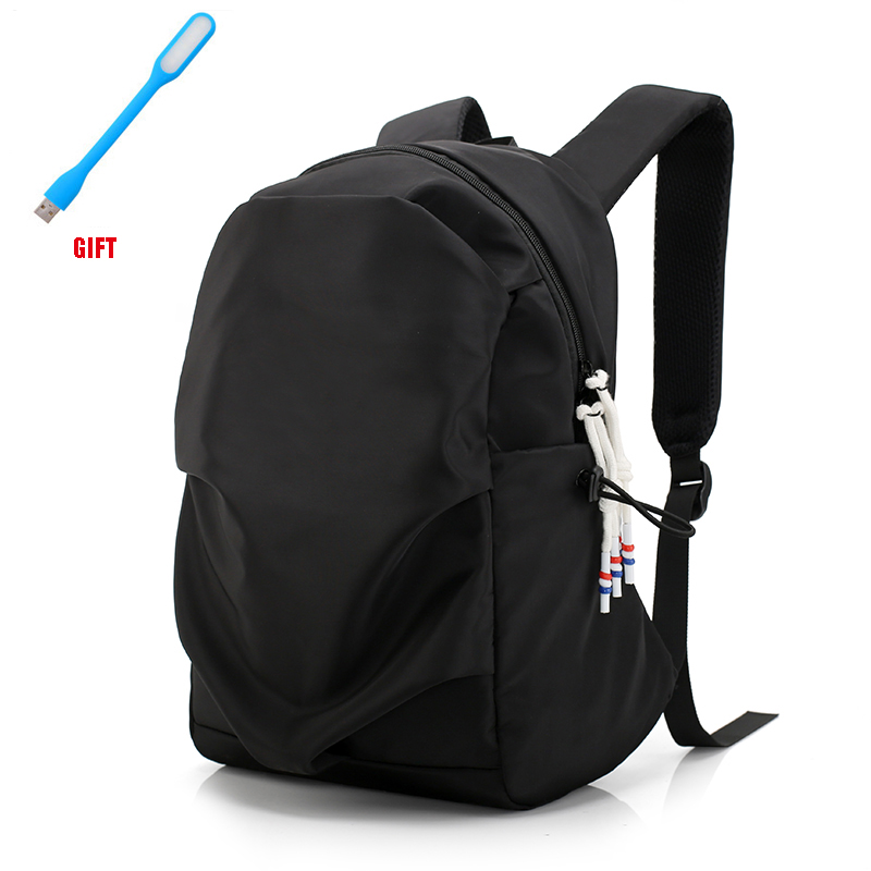 New Men Backpack for 15.6 <font><b>Inches</b></font> <font><b>Laptop</b></font> Back Pack 2020 Large Capacity Stundet Backpacks Pleated Casual Style <font><b>Bag</b></font> Water Repellent image