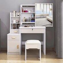 80cm de altura armários para o quarto vaidade espelho de armazenamento mesa de maquiagem com mesa lateral cabeceira maquiagem banco de madeira penteadeira