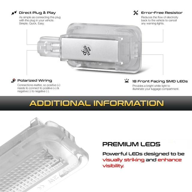 LED Luggage Compartment Interior Lights Trunk Lamp For Honda Civic Accord City CR-Z CR-V Jazz Fit Crosstour FR-V HR-V Insight 4