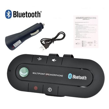 Multipoint Speakerphone 4.1+EDR Wireless Bluetooth Handsfree Car Kit MP3 Music Player for IPhone Android Dropship Hot wireless bluetooth car kit handsfree speaker mp3 music player sun visor clip multipoint noise cancelling for iphone android