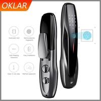 OKLAR Electronic Smart Door Lock With App unlock Security Biometric Fingerprint Intelligent Lock With Password RFID card keyless