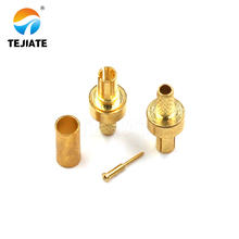 2PCS RF Connector CRC9 J/JW No Wires All Copper Gold-plated Or Nickel-plated