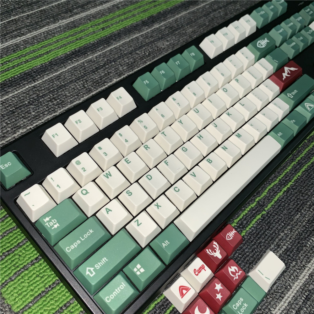 Replica Camping Keycaps Five-sided Sublimation PBT Camping Keycap DIY Personalized Mechanical Keyboard Dedicated FILCO Key Cap