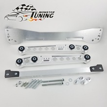 Tuning Monster Rear Subframe Brace+Lower Control Arms LCA + Rear Lower Tie Bar Combo Set For Honda Civic 1996 2000 EK With Logo