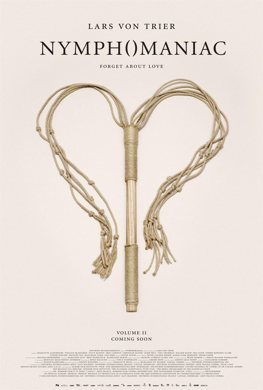 NYMPHOMANIAC фильм Кристиан Слейтер ума Турман Шелковый плакат декоративной живописи 24x36 дюймов - Цвет: Синий