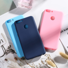 Para Huawei Enjoy 7S funda TPU silicona suave colores caramelo cubierta trasera funda de teléfono para Huawei P Smart Cover FIG-LX1 disfrutar S 7S Capa
