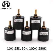 Hifivv audio hifi EIZZ interruttore Potenziometro 2.0CH di alta precisione 24 step potenziometro 10K 25K 50K 100K 250K