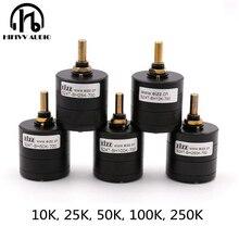 Hifivv audio hifi EIZZ przełącznik z potencjometrem 2.0CH o wysokiej precyzji 24 krok po kroku potencjometr 10K 25K 50K 100K 250K