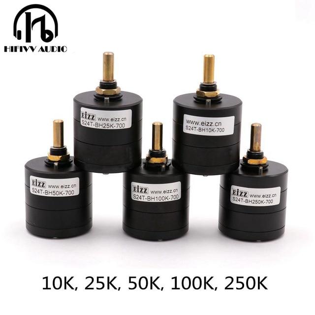 مقياس الجهد الكهربائي Hifivv hifi EIZZ 2.0 بوصة عالي الدقة 24 خطوة الجهد 10K 25K 50K 100K 250K