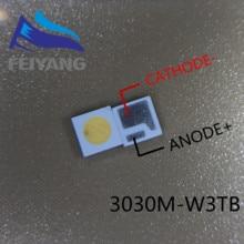 500 قطعة 3030M W3SP AOT LED الخلفية عالية الطاقة LED 1.6W 3030 6V بارد الأبيض 100 130LM تطبيق TV